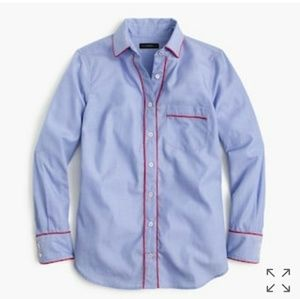 J Crew Pajama Shirt with Tipping